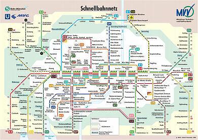 Schnellbahnnetzplan Dezember 2002