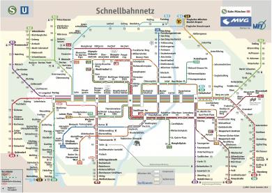Schnellbahnnetzplan Dezember 2014