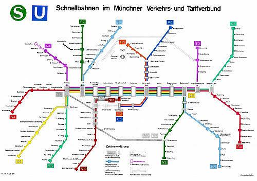 Entwurf zum Schnellbahnnetzplan 1971