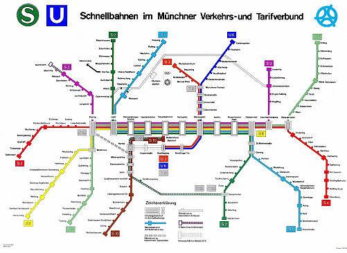 Schnellbahnnetzplan Februar 1972