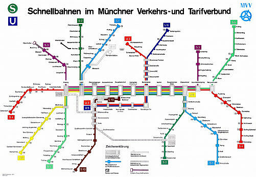 Schnellbahnnetzplan September 1975
