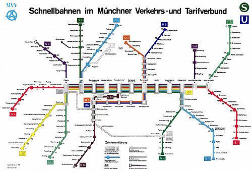 Schnellbahnnetzplan Mai 1978