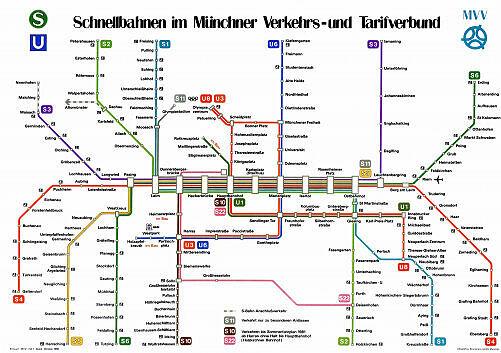 Schnellbahnnetzplan Oktober 1980