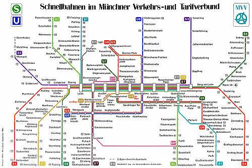 Schnellbahnnetzplan September 1983