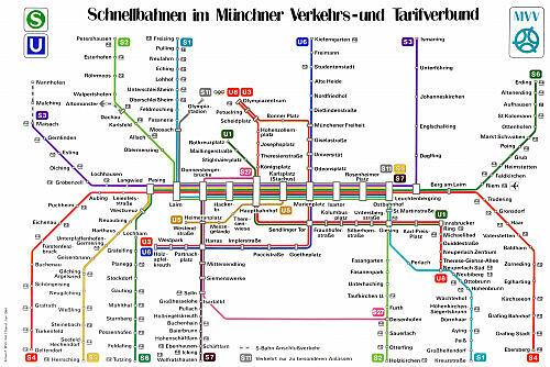 Schnellbahnnetzplan Juni 1984