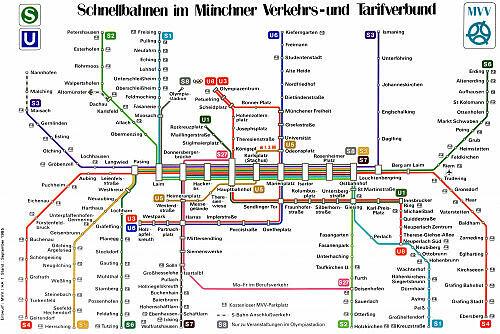 Schnellbahnnetzplan September 1985