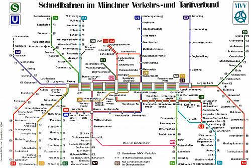 Schnellbahnnetzplan März 1986