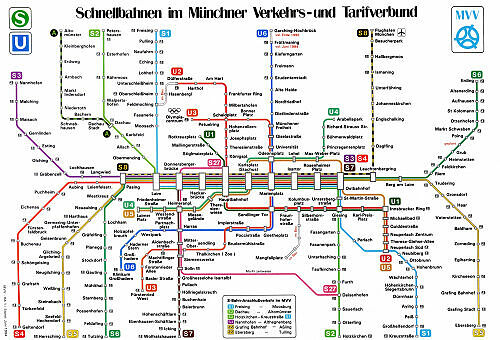 Schnellbahnnetzplan Juni 1994