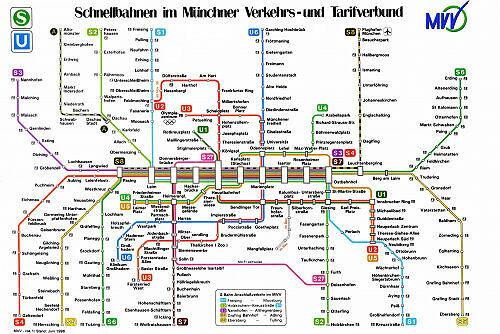 Schnellbahnnetzplan Juni 1996