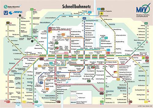 Schnellbahnnetzplan Oktober 2001