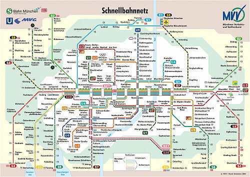 Schnellbahnnetzplan Dezember 2004