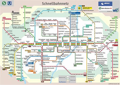 Schnellbahnnetzplan Dezember 2006