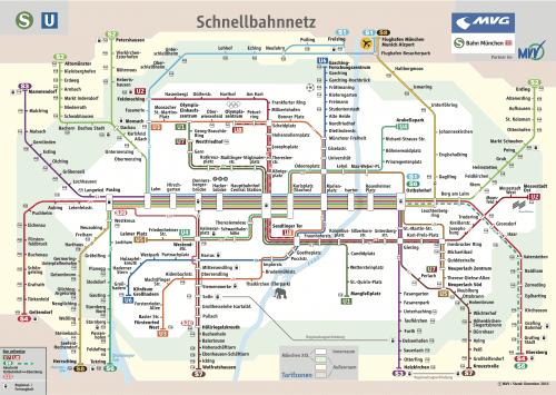 Schnellbahnnetzplan Dezember 2015