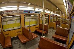 Innenraum eines Zugs vom Typ B