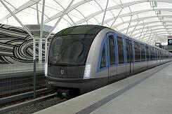 Fotomontage des geplanten C2-Zuges