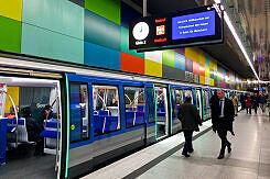 C2-Zug Präsentation im U-Bahnhof Georg-Brauchle-Ring