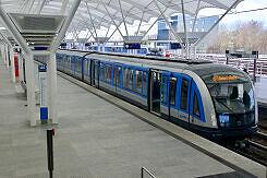 C2-Zug 714 im U-Bahnhof Fröttmaning