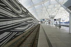 Fröttmaning Bahnsteig stadteinwärts