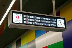 Zugzielanzeiger im Bahnhof Georg-Brauchle-Ring