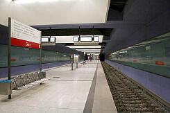 U-Bahnhof Gern noch mit alten Zugzielanzeigern