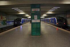 U-Bahnhof Zwei C-Züge am Goetheplatz