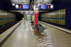 Hintergleiswand am U-Bahnhof Haderner Stern
