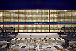 Glasbausteinwand im U-Bahnhof Haderner Stern