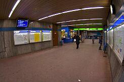 Sperrengeschoss im U-Bahnhof Harras