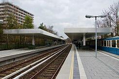 U-Bahnhof Kieferngarten von Norden gesehen