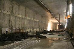 Bahnsteighalle des künftigen U-Bahnhof Moosach