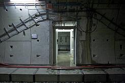 Querschlag im Streckentunnel OEZ - Moosacher St.-Martins-Platz
