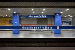 U-Bahnhof Münchner Freiheit vor der Umgestaltung