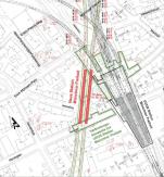Lageplan des für die U9 erweiterten Bahnhofs Münchner Freiheit