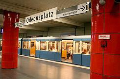 U-Bahnhof Odeonsplatz mit neuem Leitsystem