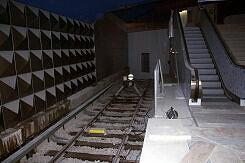 Prellbock am Gleisende am Olympia-Einkaufszentrum (U3)