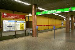 nördlicher Zugangsbereich im U-Bahnhof Quiddestraße