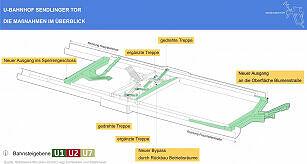Überblick über den Umbau am Sendlinger Tor