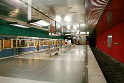 U-Bahnhof Wettersteinplatz mit wartendem A-Wagen