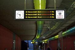 Zugzielanzeiger mit Sonderzielen zur bauma 2010