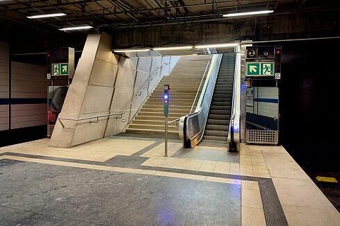 Nachgerüsteter nördlicher Ausgang im U-Bahnhof Alte Heide