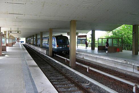 Ausfahrender C-Zug in Neuperlach Süd