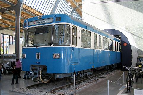 A-Wagen Prototyp 092 im Verkehrszentrum des Deutschen Museums