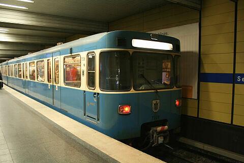 A-Wagen 308 am Sendlinger Tor