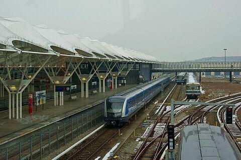 C-Zug 701 bei einer der ersten Fahrten im Betriebshof Fröttmaning