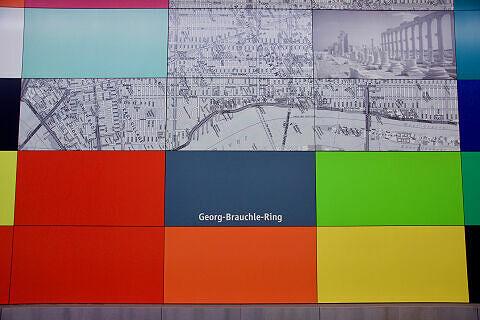 Wandbilder im U-Bahnhof Georg-Brauchle-Ring
