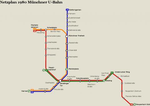 Netzplan Stand 31.12.1980