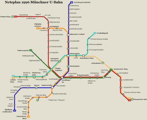Netzplan Stand 31.12.1996