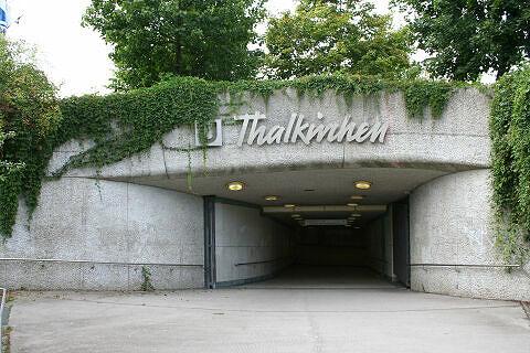 Eingang zum U-Bahnhof Thalkirchen