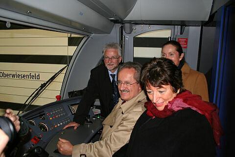 Herbert König, Christian Ude, Karin Roth und Rosemarie Hingerl im Eröffnungszug