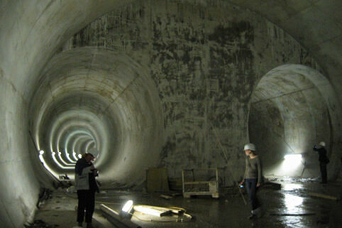 Tunnel zwischen Oberwiesenfeld und OEZ im Rohbau